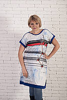 Женская туника-платье баталл