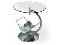 Журнальный столик Halmar Alma с круглой стеклянной столешницей