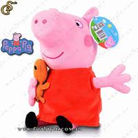 """Игрушка свинка Пеппа - """"Peppa"""". Большой размер - 27 см."""