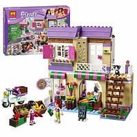 """Конструктор Bela Friends  """"Овощной рынок в Хартлейке"""" (аналог LEGO Friends 41108), 389 дет"""