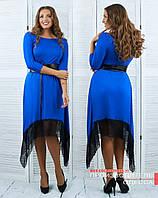Платье-туника с кружевом БАТ 810 (502)