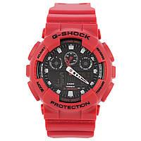 Спортивные наручные часы Casio G-Shock GA-100B-4AER красного цвета - AAA копия, полный комплект