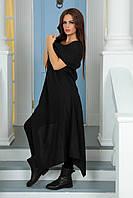 Платье туника свободное из льна в бохо стиле