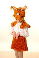 Карнавально-новогодний детский костюм для девочки Белочка (В-2) (р.2-6 лет)