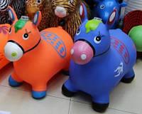 Прыгун лошадка детская резиновый