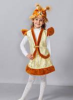 Карнавально-новогодний детский костюм для девочки Белочка парча (р.2-6 лет)
