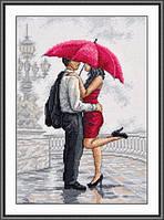 В объятиях дождя Набор для вышивки крестом с печатью на ткани 14ст