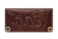 Кожаный бумажник ручной работы для женщин