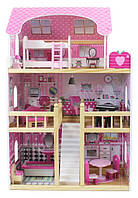 Деревянный домик для куклы Барби