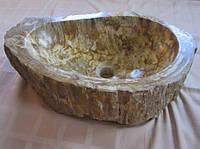 Умывальник (раковина) из окаменелого дерева