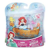 DPR Набор для игры в воде: маленькая кукла Принцесса Ариель и лодка, B5338