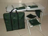Раскладной алюминиевый стол ТА-21407+FS21 2стульчика+чехол для переноски и хранения.