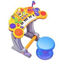 Пианино-синтезатор детское со стульчиком и микрофоном BB52B