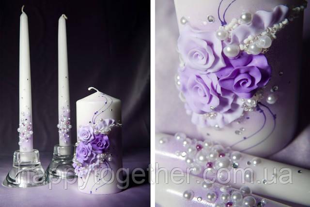Свеча фиолетовая фото