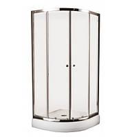 IMPRESE VESNA душ. кабина 90*90*185, хром, стекло прозрачное (6мм.) раздвижная (IM-090111)