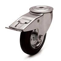 Колеса поворотные с тормозом и отверстием (10 серия)