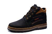 Ботинки зимние Gore Tex, мужские, на меху, натуральная кожа, черные с коричневым, р. 40 41 42