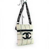 Сумочка средняя женская через плечо белая Chanel 8866