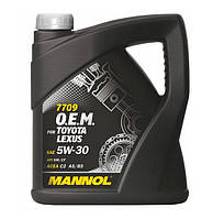 Оригинальное масло MANNOL O.E.M. for Toyota Lexus 5w30  API SM/CF (4л.)