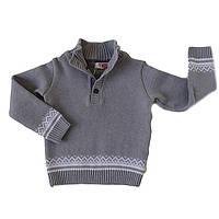 """Трикотажный вязаный свитер """"Михаил"""" для мальчика (рост 116-140 см)"""