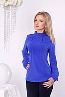 Синяя блуза без застежки