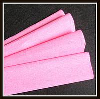 Гофрированная бумага розовая  (50*250 см)