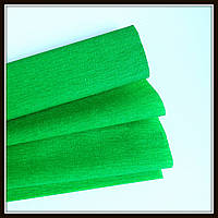 Гофрированная бумага ярко-зеленая  (50*250 см)