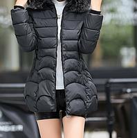 Женская зимняя куртка-пуховик черная