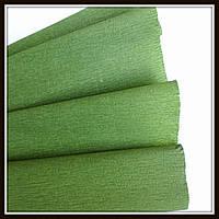 Гофрированная бумага зеленая Хаки (50*250 см)