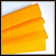 Гофрированная бумага морковная (50*250 см)