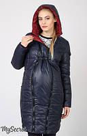 Зимнее пальто для беременных и после Kristin двухсторонее темно-синее и бордо