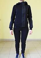 Женский тёплый спортивный костюм Freever 8921 черный код 2053А