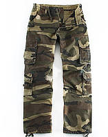 Стильные тактические штаны RINGSPUN. Мужские камуфляжные штаны. Военные штаны хаки маскировка. Код: КБН140