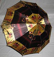 Зонт трость Атлас с деревянным корпусом