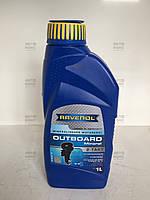 Минеральное моторное масло для 2-х тактных лодочных двигателей Ravenol 1л
