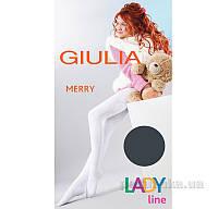 Колготки темно-серые зимние для девочки 250 den Merry Giulia Iron 128-134