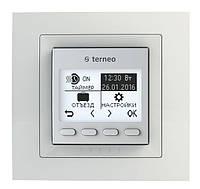 Программируемый термостат для теплого пола Terneo pro unic (белый) с датчиком температуры пола