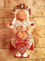 Интерьерная куколка из льна