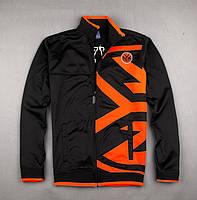 """Мужская толстовка с принтом """"NEW YORK"""". Куртка - бейсболка с ярким оранжевым принтом. Код: КБН143"""