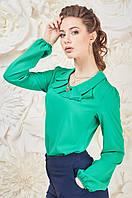 Качественная классическая женская блуза с брошью