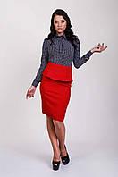 Деловая женская блуза с воротничком