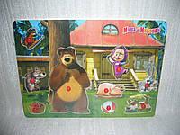 Деревянные игрушки рамка вкладыш Маша и Медведь