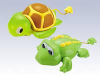 """Водоплавоющая  игрушка """"Поплыли"""" черепаха.крокодильчик на механизме"""