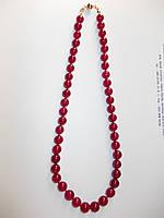 Ожерелье натуральные рубины, 267.15с, 46 штук, 10 мм -50 см-14k-Индия-Эксклюзив