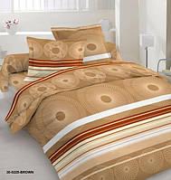 Качественное постельное белье оптом от производителя, бежевое, бязь, полуторное
