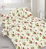 Качественное постельное белье, бязь, розы двуспальное