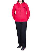 Теплый спортивный костюм батал с красной толстовкой