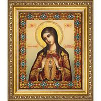 Набор для изготовления картины со стразами Чарівна Мить КС-132 Икона Божьей Матери. Помощница в родах