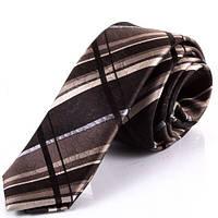 Удивительный мужской галстук из натурального шелка SCHONAU & HOUCKEN (ШЕНАУ & ХОЙКЕН) FARESHY-53 -серый