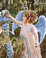 Картина раскраска по номерам без коробки Маленький Серафим (BK-GX8961) 40 х 50 см